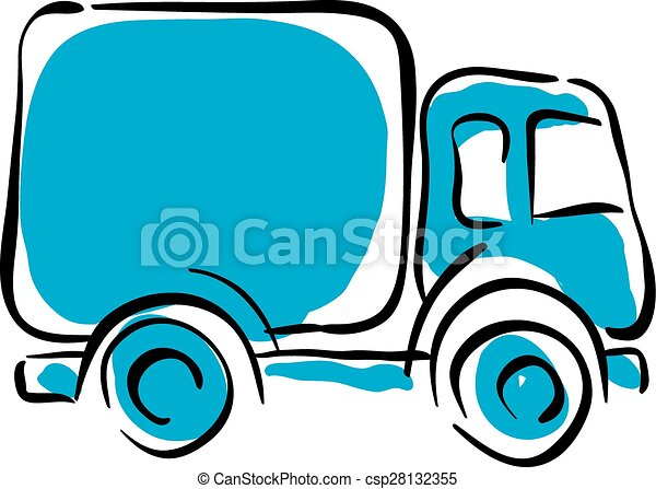 illustrated truck icon vector animated delivery car clipart vector rh canstockphoto com red delivery truck clipart