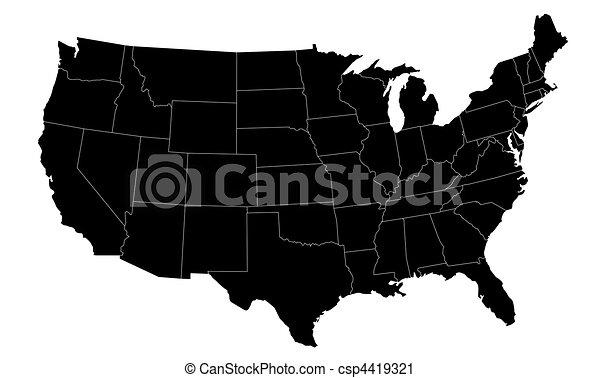 Illustrated US Map - csp4419321