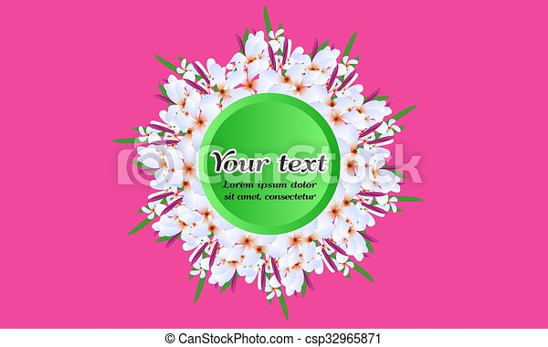 Illustrated vector floral circular frame white spring flowers illustrated vector floral circular frame white spring flowers wedding invitation design template background for special occasions and life events save stopboris Choice Image
