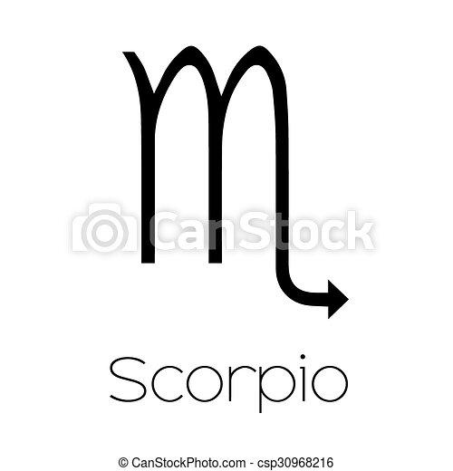 Illustrated Zodiac Symbol Scorpio