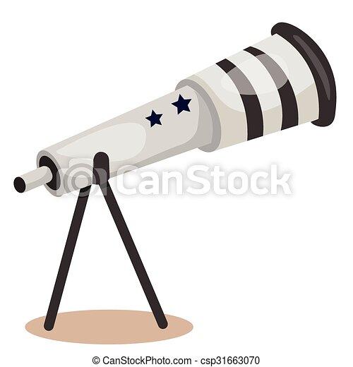 illustrateur, télescope - csp31663070
