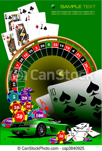 Elementos de casino. Vector Ilustrati - csp3840925