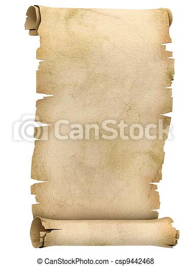 illustratie, perkament, boekrol, 3d - csp9442468