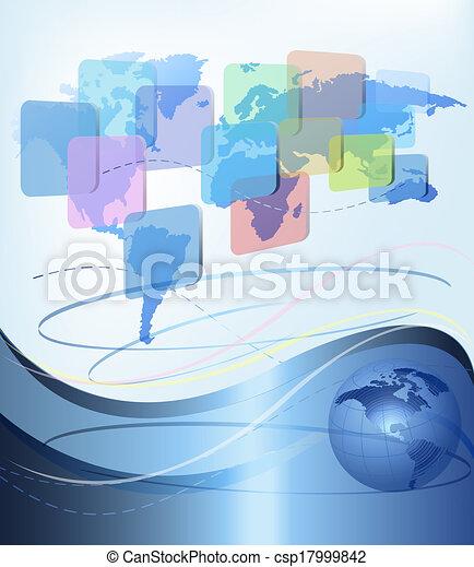 illustration., επιχείρηση , αφαιρώ , map., μικροβιοφορέας , φόντο , κόσμοs  - csp17999842