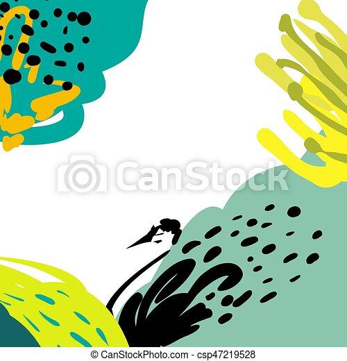 illustration., 単純である, pattern., hand-drawn, 形, 定型, 明るい, ベクトル, 背景 - csp47219528