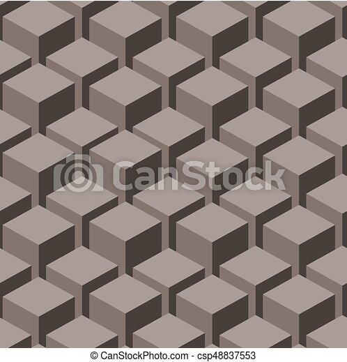 illustration., abstract, pattern., seamless, vector, geometrisch - csp48837553