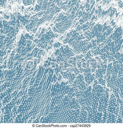 illustration., abstrakcyjny, woda, tło., wektor, ruszt, surface. - csp27443929