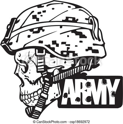 illustration., armée, -, nous, vecteur, conception, militaire - csp18692972