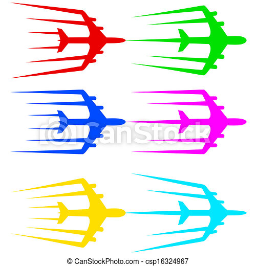 Illustration avion ligne voler stylis vecteur avion jet - Dessin avion stylise ...