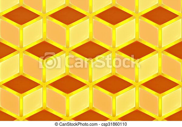 illustration background abstract bright fractal geometric patter - csp31860110