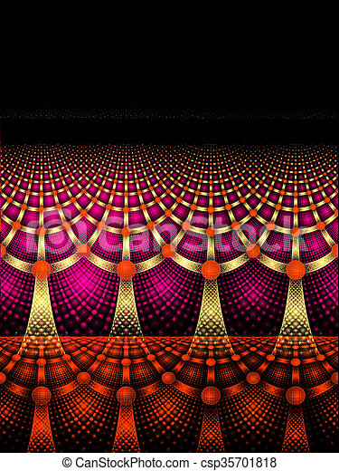illustration background abstract bright fractal geometric patter - csp35701818