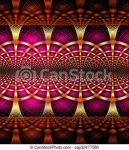 illustration background abstract bright fractal geometric pattern - csp32477580