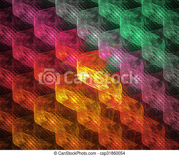illustration background abstract bright fractal geometric patter - csp31860054