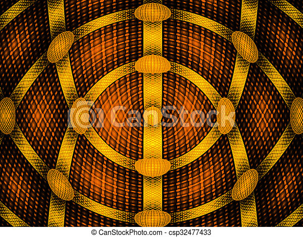 illustration background abstract bright fractal geometric pattern - csp32477433