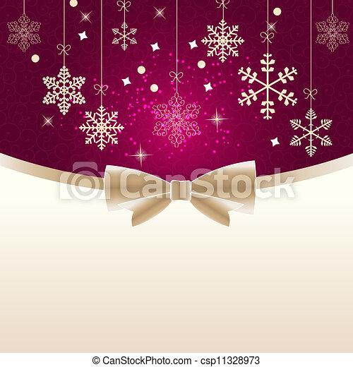 illustration., beleza, abstratos, experiência., vetorial, ano, novo, natal - csp11328973
