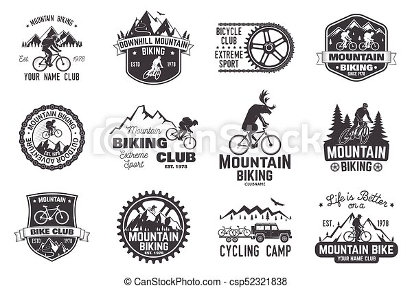 Una colección de bicicletas. Ilustración de vectores. - csp52321838