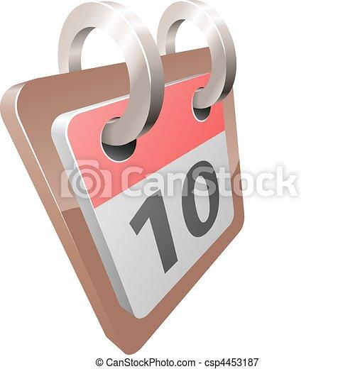 illustration, calendrier, vecteur, bureau, brillant - csp4453187