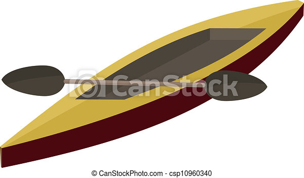 Illustration Canoe Paddle Eps10