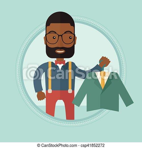 Ilustración de vectores del vector de la chaqueta de la compra. - csp41852272