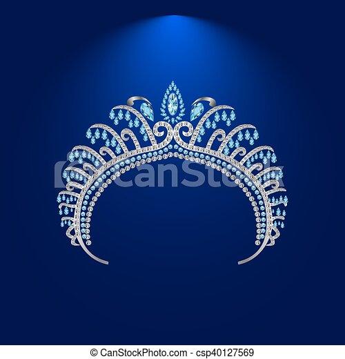illustration crown diadem tiara 2 . - csp40127569
