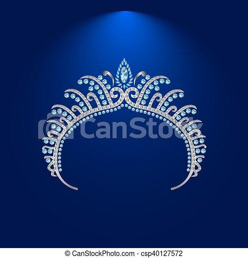 illustration crown diadem tiara 3 . - csp40127572