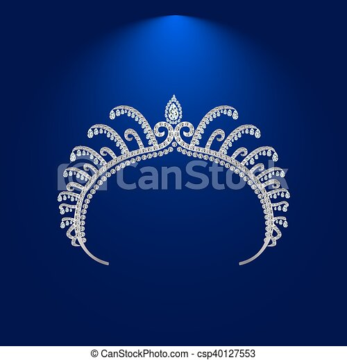 illustration crown diadem tiara - csp40127553
