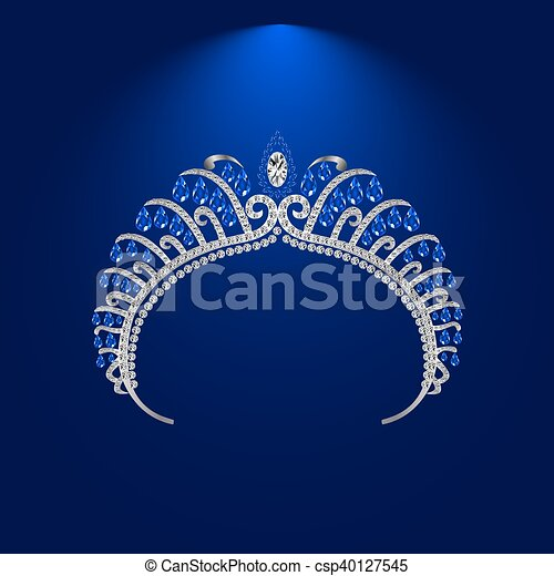 illustration crown diadem tiara - csp40127545