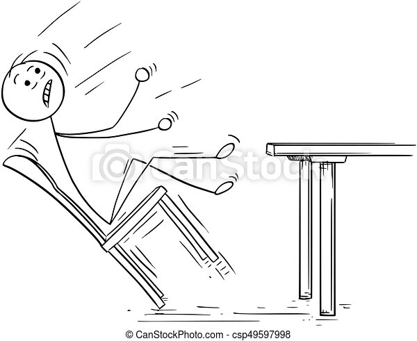 Illustration dessin anim tomber chaise balancer for Chaise qui se balance
