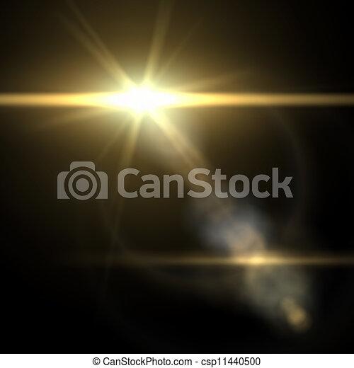 Leuchtfackel-Specialwirkung. Vektor Illustration. - csp11440500