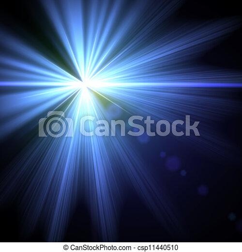 illustration., effect., lumière, vecteur, flamme, spécial - csp11440510