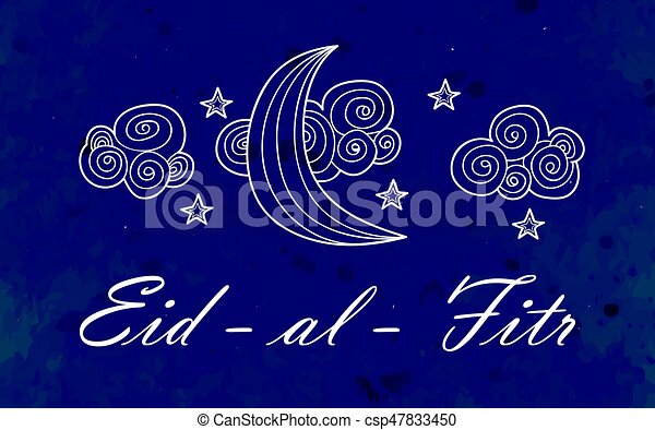 Illustration eid al fitr greeting card with ornament on watercolor illustration eid al fitr greeting card with ornament on watercolor background ornate crescent moon and star on arabic background eid al fitr muslim m4hsunfo