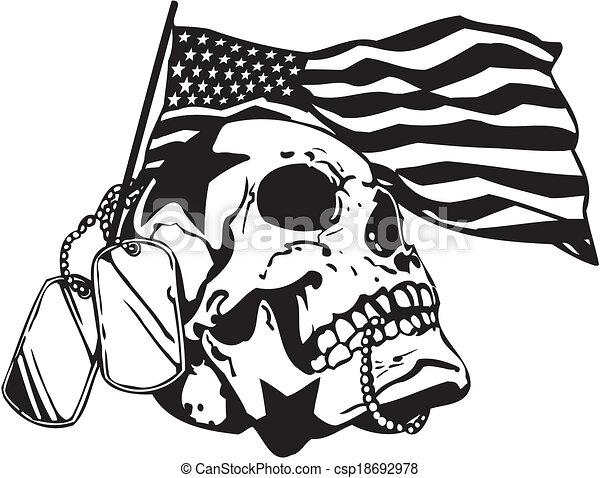 illustration., ejército, -, nosotros, vector, diseño, militar - csp18692978