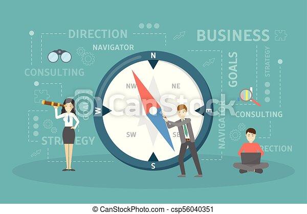 Ilustración de la brújula de negocios. - csp56040351