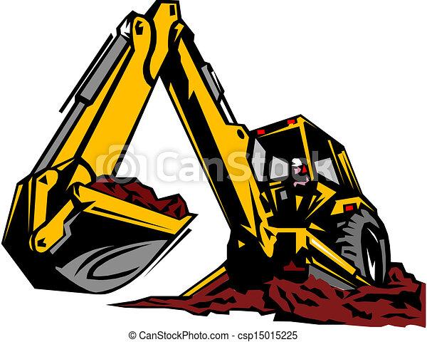 illustration, excavateur - csp15015225