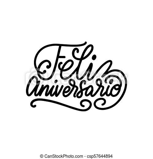 Feliz Aniversario Traducido De La Frase Escrita A Mano