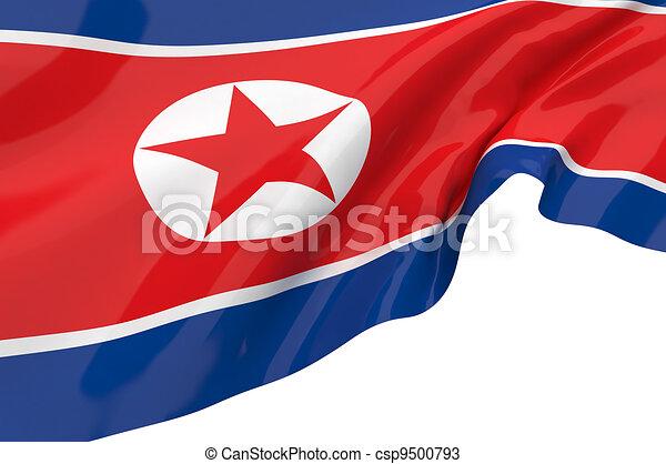 Illustration flags of Korea-North - csp9500793