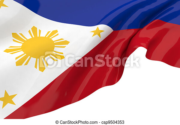 Illustration flags of Philippines - csp9504353