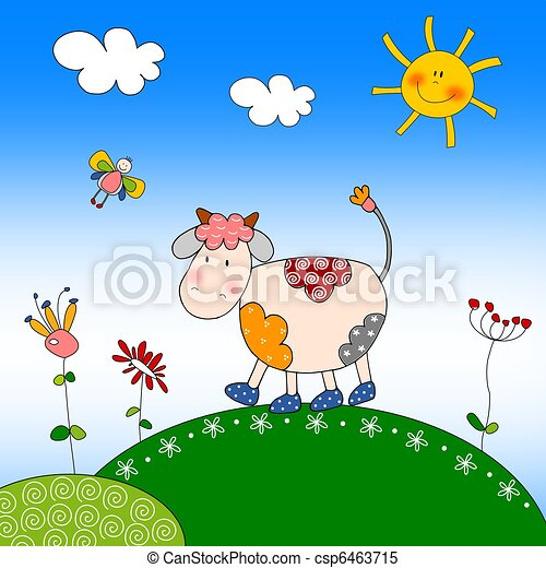 Illustration for children - Cow - csp6463715