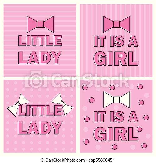 Illustration girl baby shower invitation card with pink bow illustration girl baby shower invitation card with pink bow ribbon vector stopboris Gallery