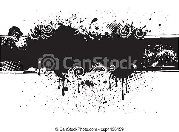 illustration-grunge, vektor, zurück, tinte - csp4436459