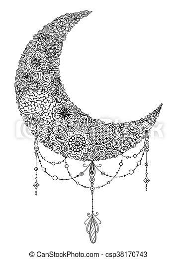 Illustration Heilig Paisley Pattern Mandalas