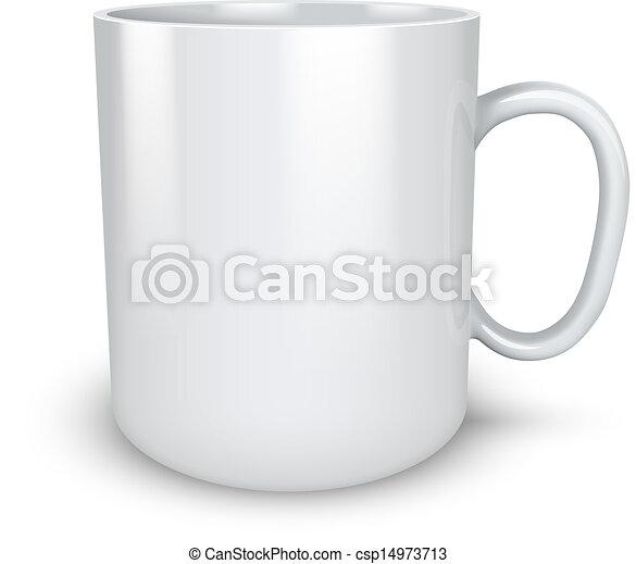 illustration., isolé, grande tasse, vecteur, fond, vide, blanc - csp14973713