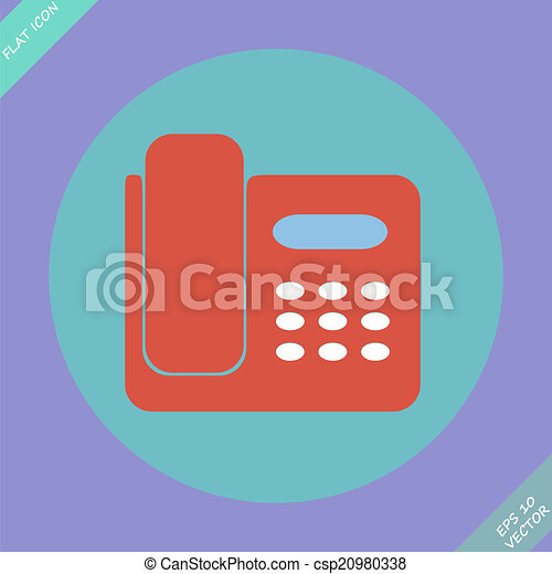 illustration., -, isolé, téléphone, vecteur, icône - csp20980338