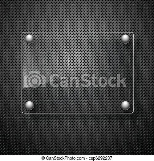 illustration., metaal, abstract, framework., glas, vector, achtergrond - csp6292237