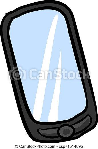illustration, mobile, arrière-plan., vecteur, téléphone, blanc - csp71514895