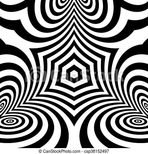 Illustration Muster Abstrakt Geometrisch Hintergrund Vektor Illusion Optisch 3d