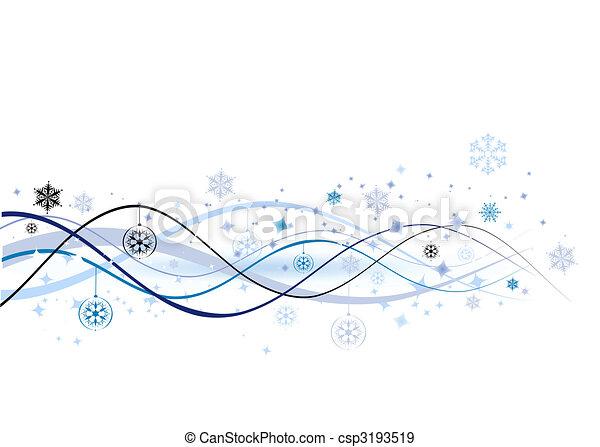 illustration, noël, fond, vecteur, conception, vacances, ton - csp3193519
