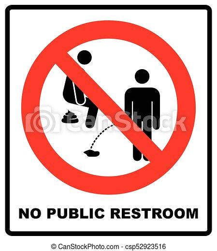 illustration., non, signe, peeing, prohibition, vecteur - csp52923516