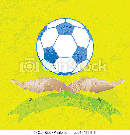 Illustration of a ball in hand - csp19465646
