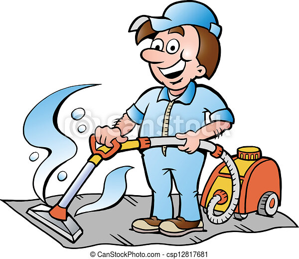 illustration of a carpet cleaner hand drawn vector vector rh canstockphoto com  carpet cleaning clipart free